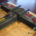 XWing Fighter Cake