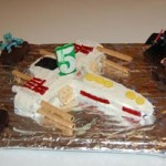 Star Wars XWing Fighter Cake