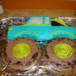 2nd Birthday Monster Truck Cake